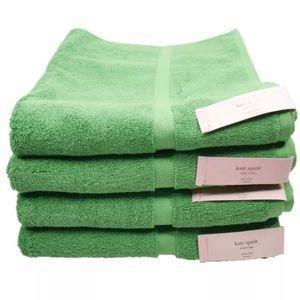 Kate Spade Set of 4 Kelly Green Bath 🛀 Towel